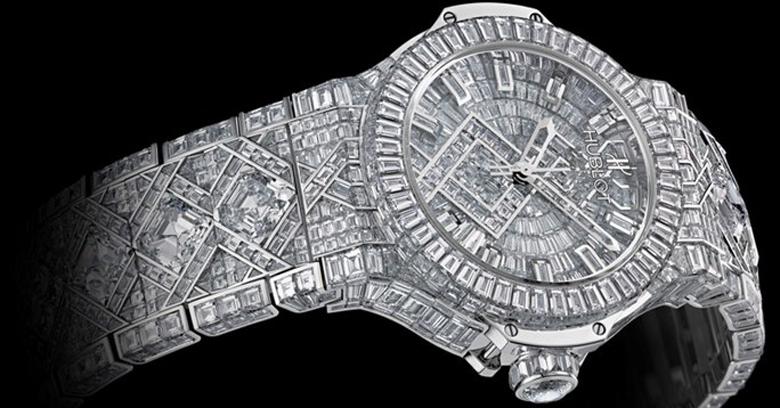 reloj de diamantes de lujo 5 millones de dólares hublot big bang
