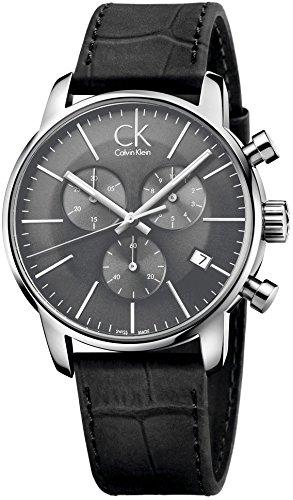 Relojes Calvin Klein Hombre Correa de cuero negro - K2G271C3
