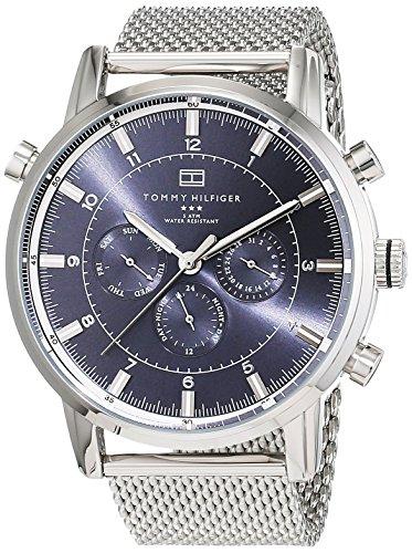 Reloj Tommy Hilfiger caro para hombre 1790877 correa de acero inoxidable pantalla de múltiples esferas