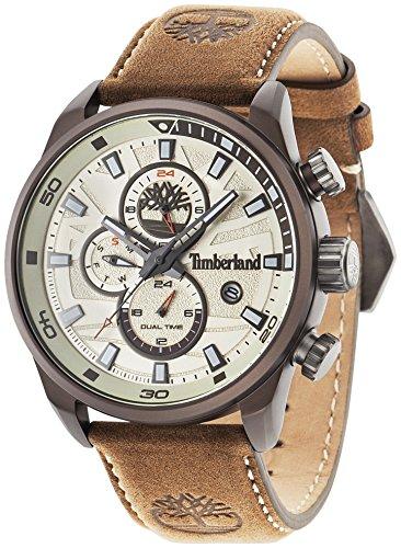 Timberland Henniker II Reloj de pulsera analógico para hombre Cuero marrón