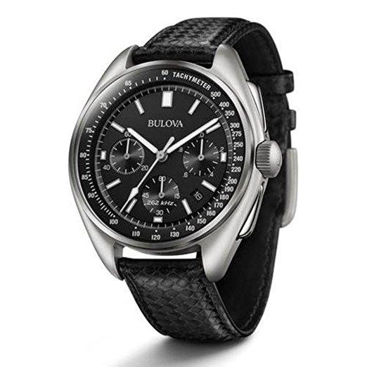 Reloj de hombre Bulova para hombre joven correa de piel de luna negra
