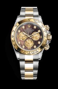 Rolex Daytona negro nácar con diamantes 116503-0009