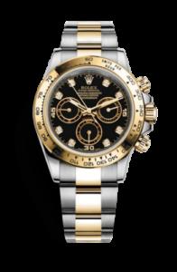 Rolex Daytona con diamantes en monturas de oro de 18 quilates. 116503-0008