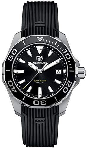 Reloj suizo Tag Heuer Aquaracer con correa de caucho WAY111A.FT6151