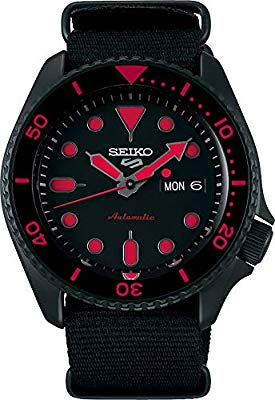 Seiko 5 Sports Street srpd83k1 - Rojo con correa NATO