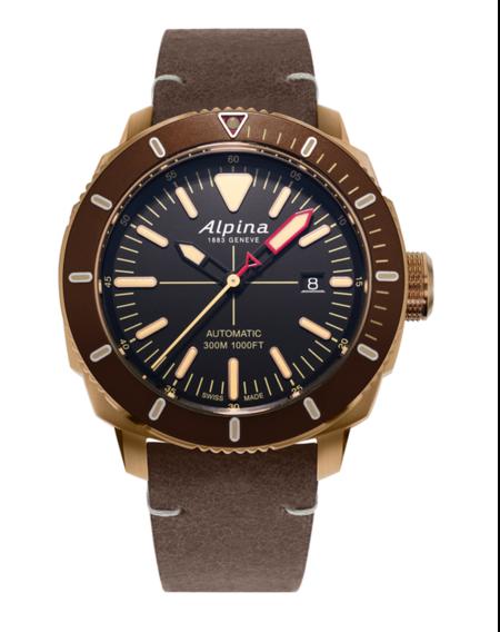 Reloj con correa de piel de 2000 euros - ALPINA SEASTRONG DIVER