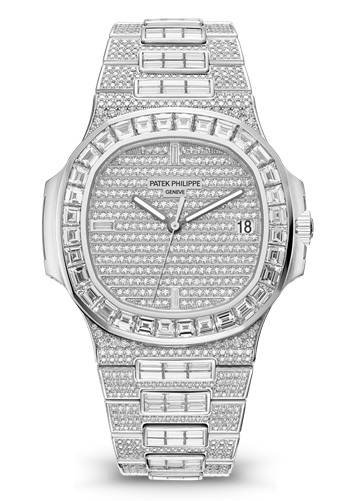 Patek Philippe Nautilus 5719-10G - adoquines de diamante