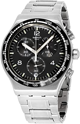relojes de acero para hombre 200 euros - Swatch Chronograph